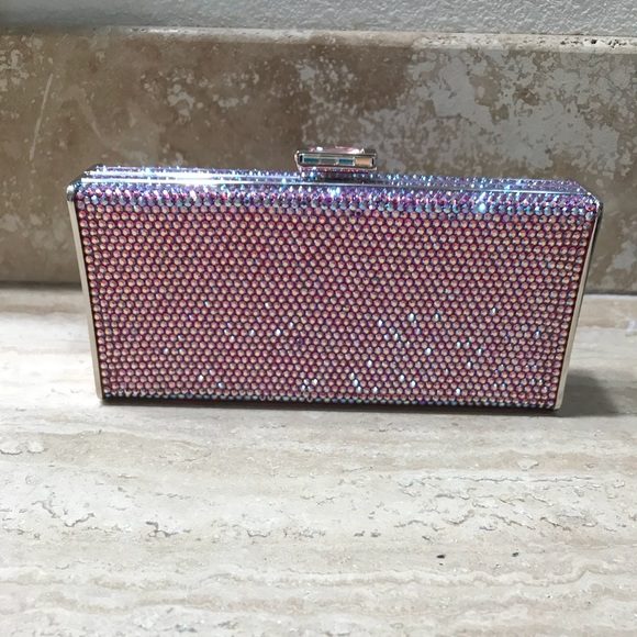 f7550df77cf Judith Leiber Bags | Pink Shift Swarovski Crystal Clutch | Poshmark